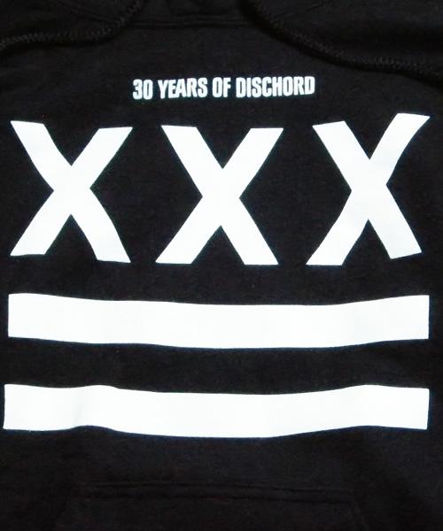 DISCHORD(ディスコード) 公式パーカー XXX 30th - ブラック/ホワイト