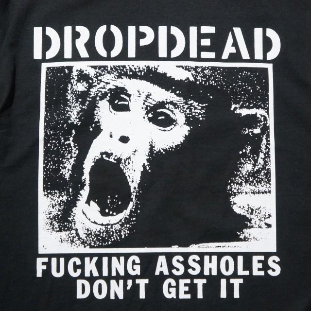 DROPDEAD バンド ロングスリーブシャツ Assholes Dont Get It-Black