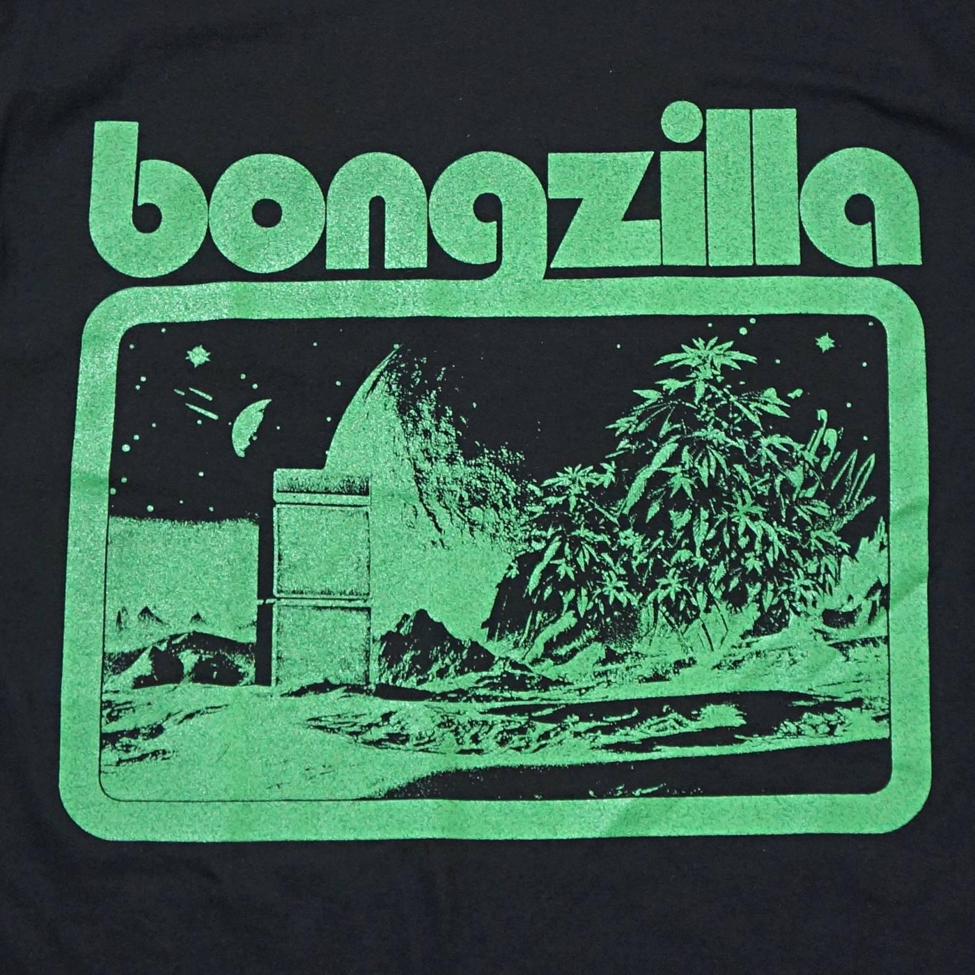 BONGZILLA Tシャツ Space Amp Weed-Black/Green