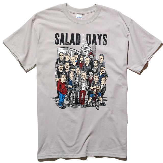 SALAD DAYS Tシャツ Brian Walsby Cast and Crew-グレー