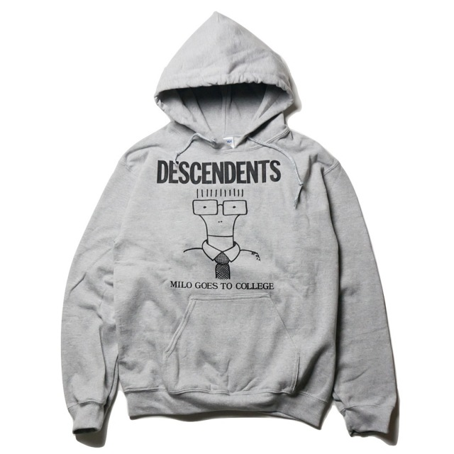 DESCENDENTS (ディセンデンツ) パーカー/Milo Goes To College -グレー