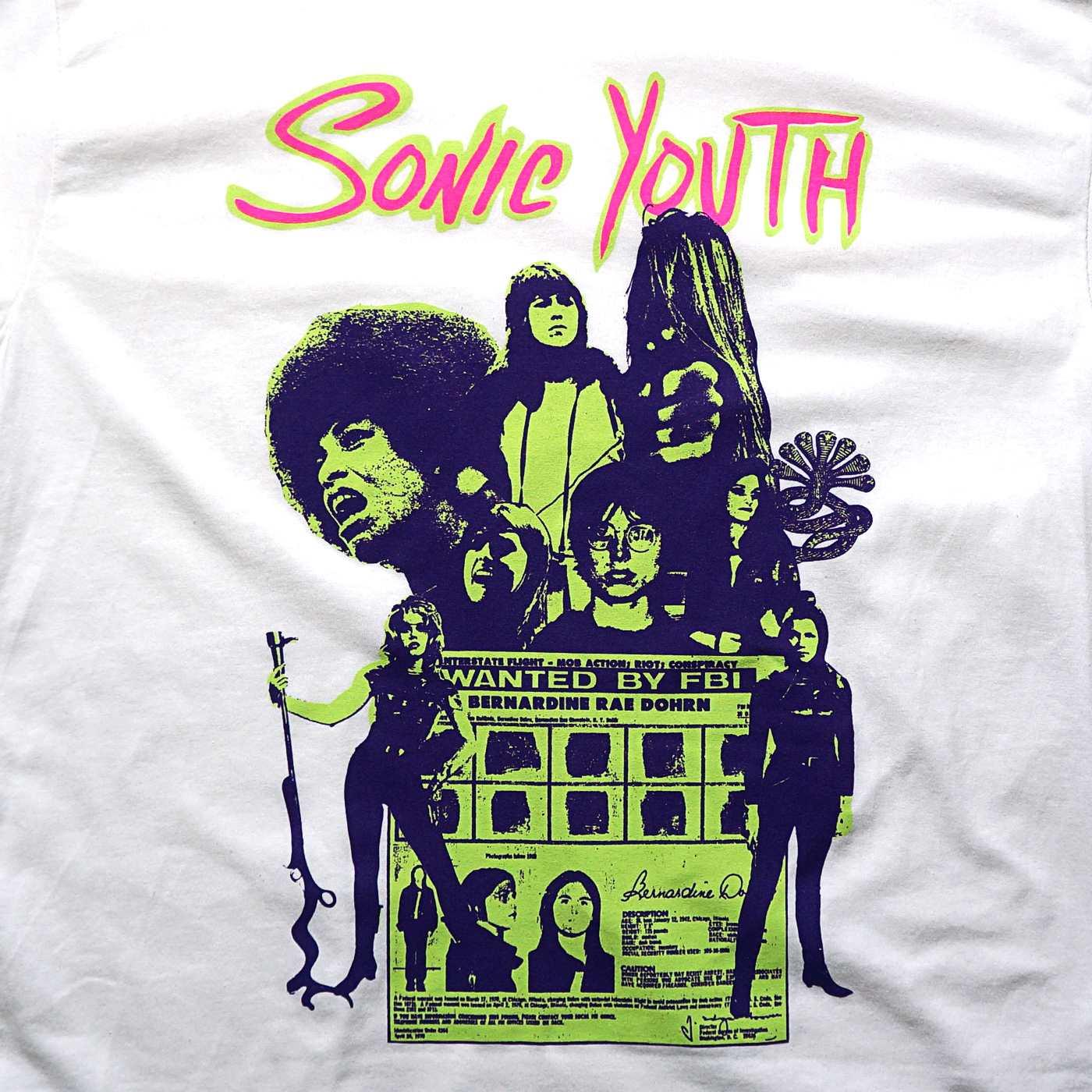 SONIC YOUTH ロングスリーブTシャツ Kool Thing-White