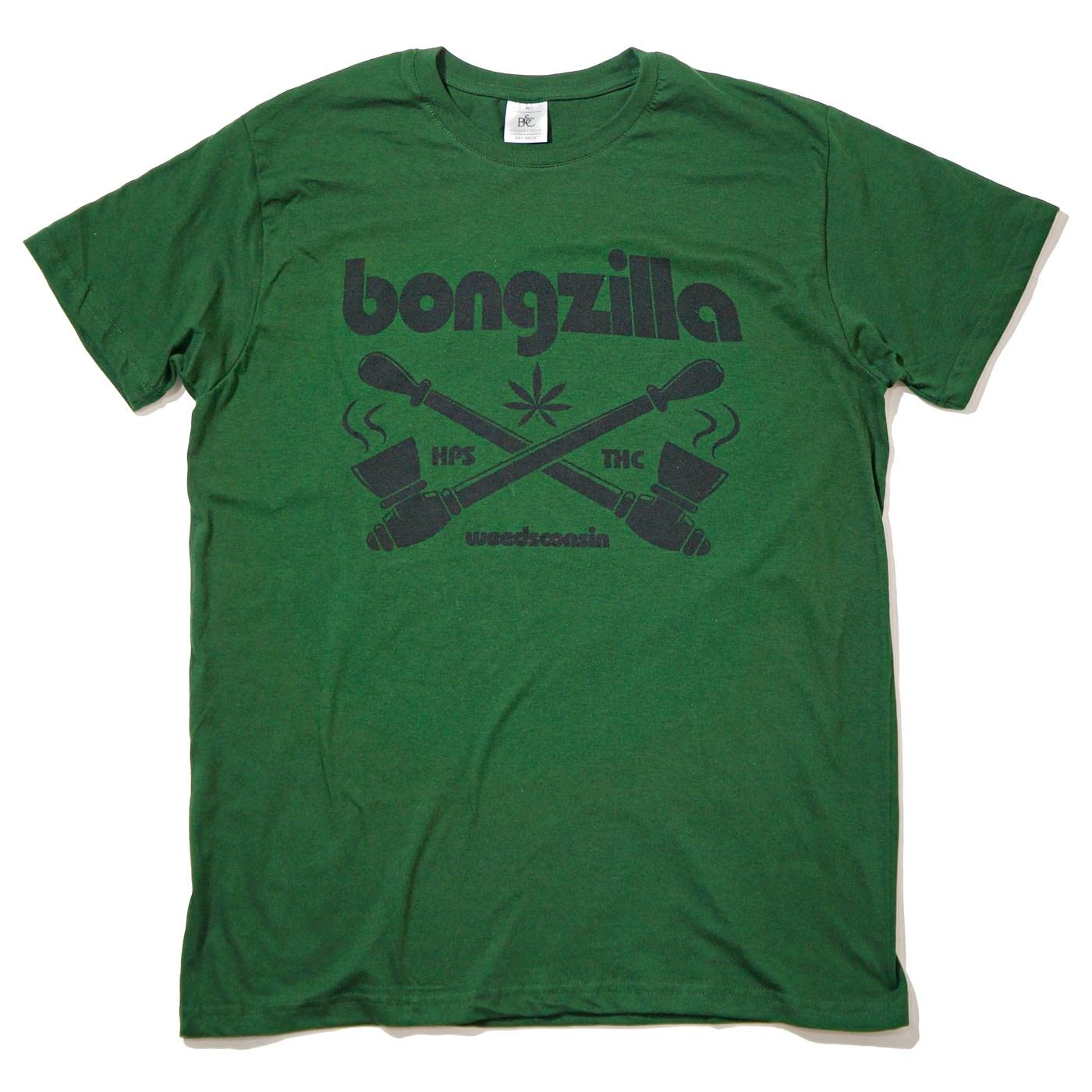 BONGZILLA Tシャツ Pipes-Green/Black