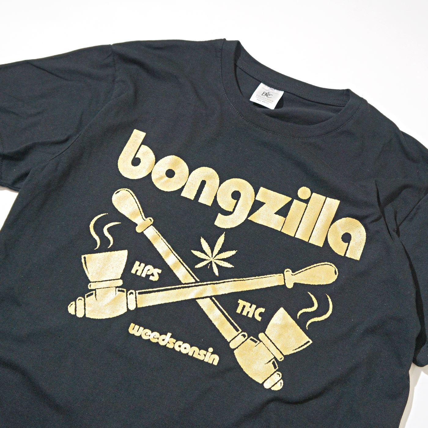 BONGZILLA Tシャツ Pipes-Black/Gold