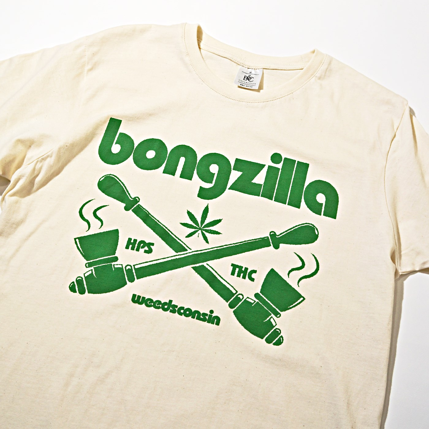 BONGZILLA Tシャツ Pipes-Natural/Green