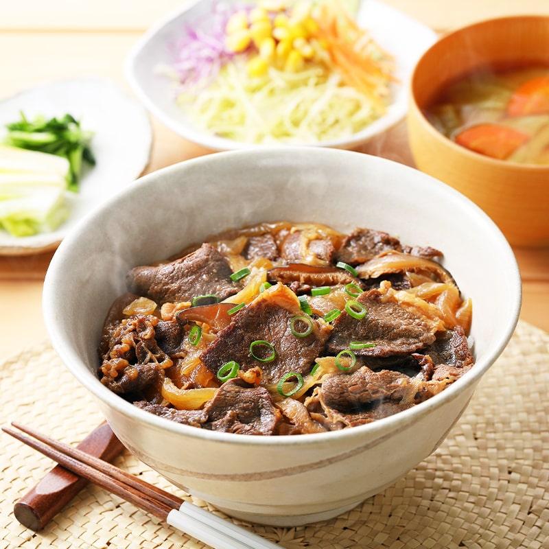 哲多すずらん食品加工 レンジ対応 添加物不使用 和牛丼セット 4食 常温便