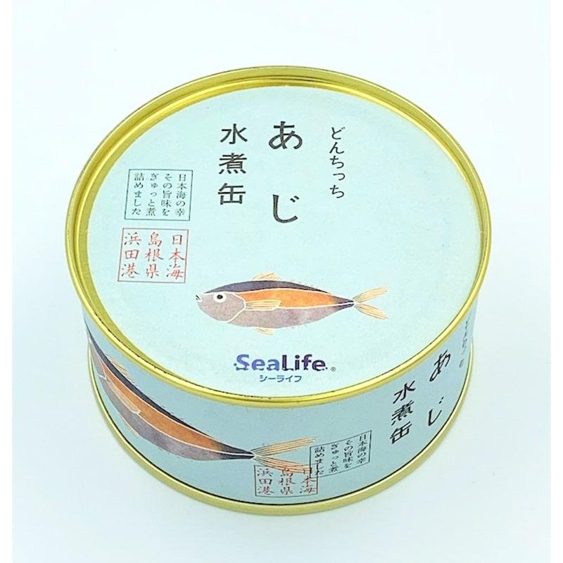 シーライフ あじ水煮缶 180g