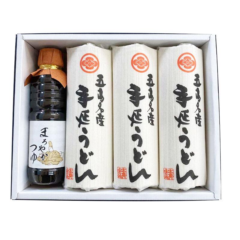 浜崎製麺所 五島手延うどんギフトセット 化粧箱入 【T-30】300g×6袋+つゆ1本入