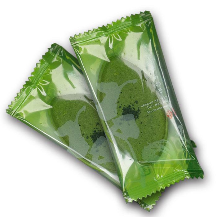 京茶の葉あわせ(抹茶・焙じ茶詰合せ) お茶と豆乳のラングドシャ16枚入り【ぎをんさかい】