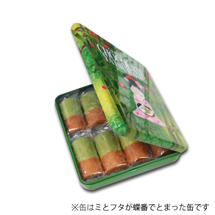 抹茶チョコ八ッ橋 缶 8袋(16枚入)【おたべ】