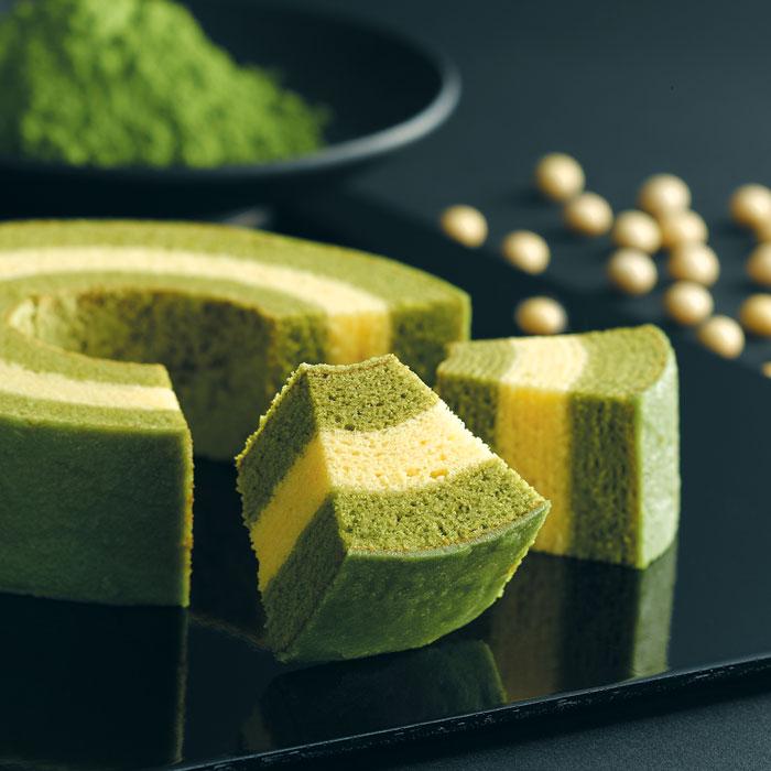 ●京ばあむ 3.5cm厚 抹茶と豆乳のバームクーヘン