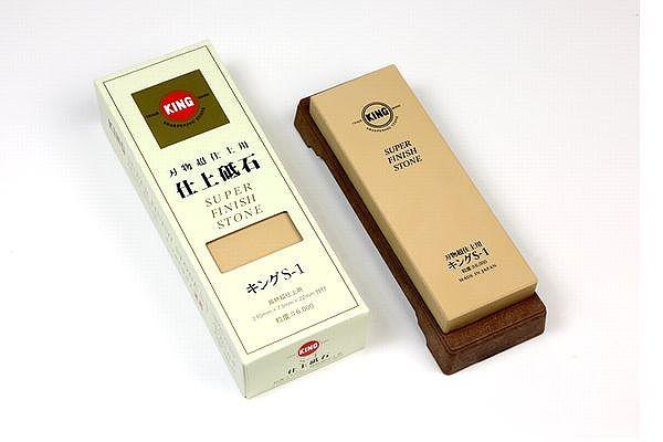 #6000【仕上砥】キング S-1 砥石 台付き
