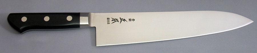 牛刀21cm 正本総本店 ハイパーモリブデン鋼 ツバ付ジュラコン(樹脂)柄 VG5021 刃渡り210mm