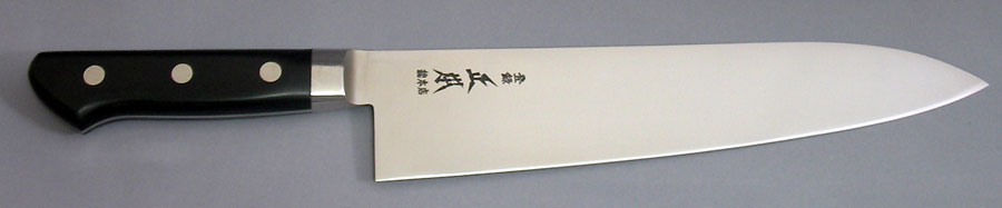 牛刀24cm 正本総本店 ハイパーモリブデン鋼 ツバ付ジュラコン(樹脂)柄 VG5024 刃渡り240mm