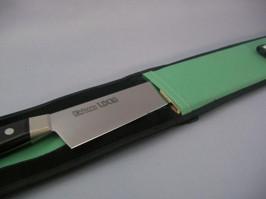 帆布製 包丁ケース 【G-L】 対応品270〜360mmの牛刀 専用木製サヤ付