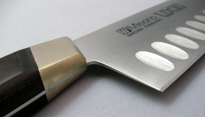 名入れ無料 牛刀サーモン18cm ミソノ UX10 No.761 刃渡180mm 両面凹加工
