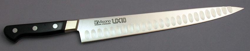 名入れ無料 筋引サーモン24cm ミソノ UX10 No.728 刃渡240mm 両面凹加工