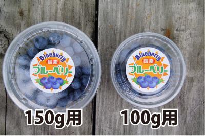 150g用かご型ブルーベリーカップ(容器+フタのセット)1,000組分