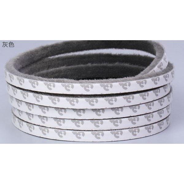 Li.Va. 隙間テープ スキマテープ 隙間風防止 5m 幅9mm 毛足9mm (灰色)
