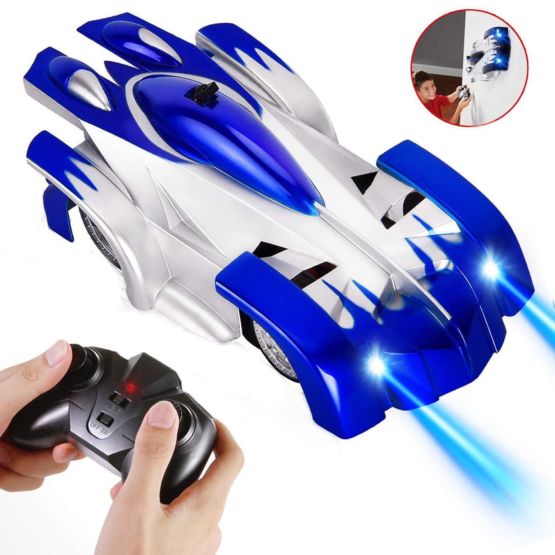 ラジコンカー 車のおもちゃ 壁を走る おもちゃ カー 無線操作 青色