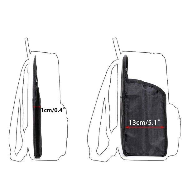 バッグインバッグ フック付き トラベルポーチ 洗面用具入れ インナーバッグ リュック バッグイン メンズ 黒