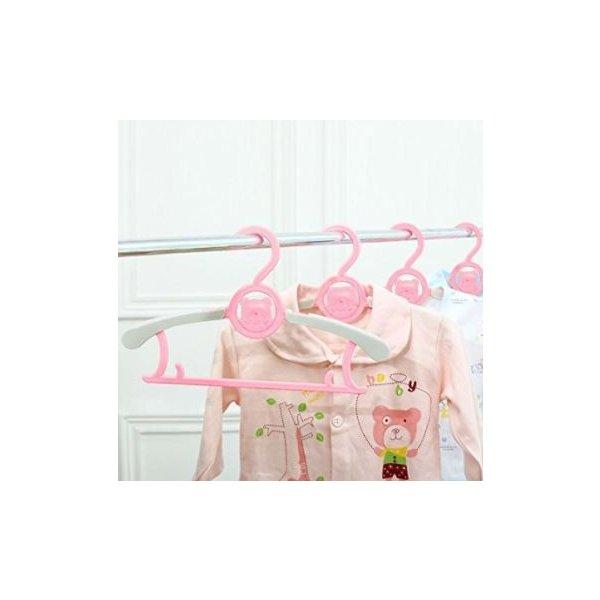ベビーハンガー 子供 スライド ハンガー 赤ちゃん 洗濯 物干し 衣類ハンガー 伸縮 10本セット 滑らない 新生児から大人