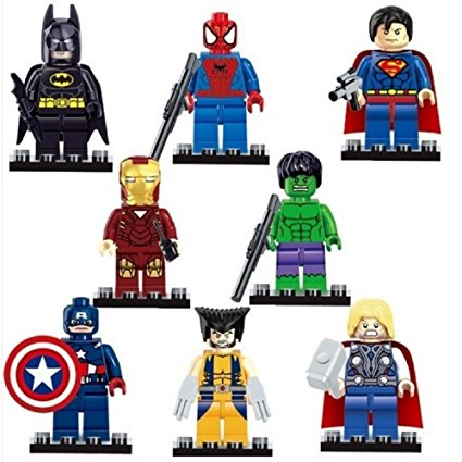 レゴ互換品 スーパーヒーローズ ミニフィギュア 8体セット