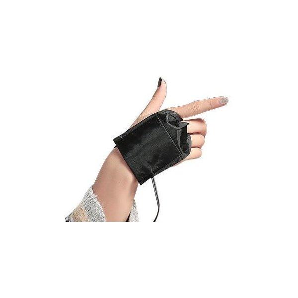 Li.Va. USB手袋(パープル・カバーなし)あったか手袋 黒色 電熱手袋 スマホ手袋 PC作業 USBグローブ ヒーター手袋 冬 冷え性対策グッズ ハーフフィ