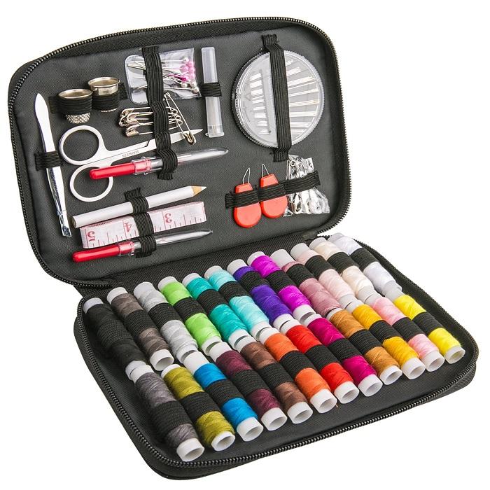 裁縫セット ソーイングセット 24色縫い糸あり 携帯式