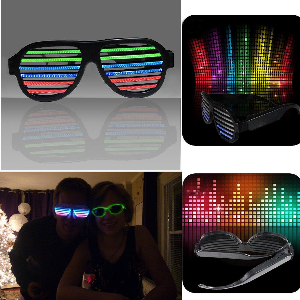 光る LED メガネ