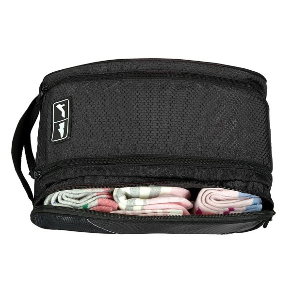 シューズケース 旅行カバンに収納 バッグインバッグ ダブルジッパー コンパクト収納