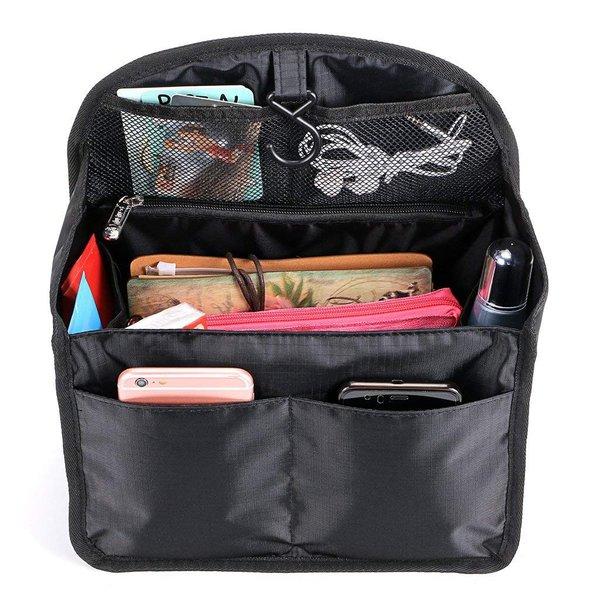 バッグインバッグ フック付き トラベルポーチ 洗面用具入れ インナーバッグ リュック バッグイン メンズ 大容量 ベージュ