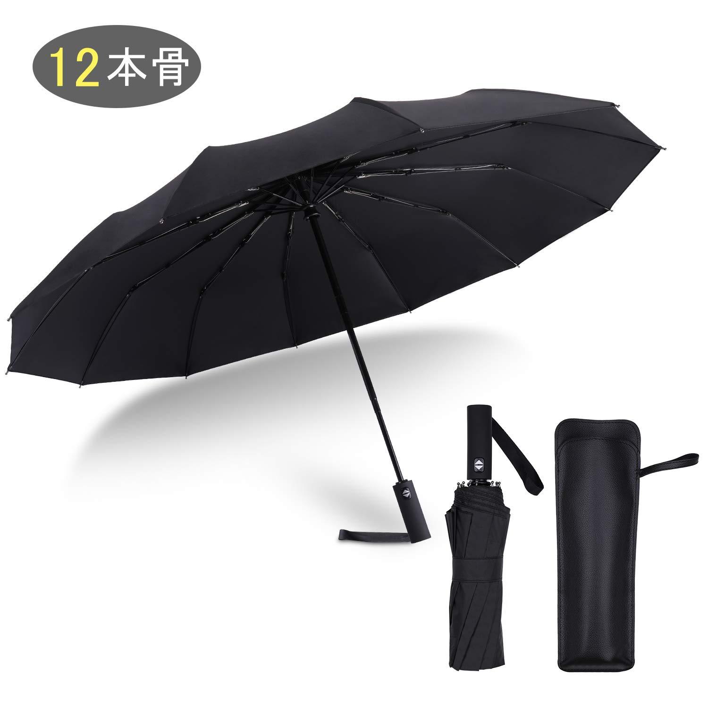 折りたたみ傘 ワンタッチ自動開閉 軽量 頑丈な12本骨 撥水加工