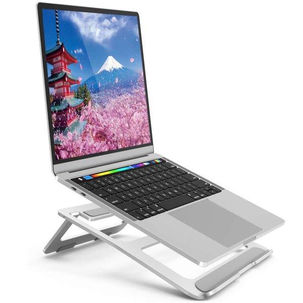ノートパソコンスタンド ノートPC スタンド パソコンスタンド PCホルダー アルミ合金製PCスタンド放熱対策 滑り止め付き エルゴノミクス 姿勢矫正 携帯型 持ち運び便利 15KG荷重可能 7-15インチ ノートpc