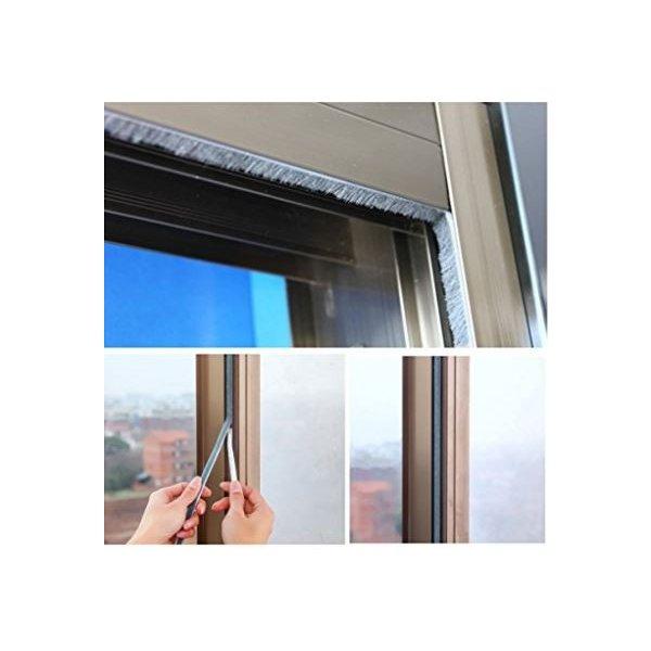 隙間テープ 窓 ドア 防風 防音 防水 毛足 5m ブラウン