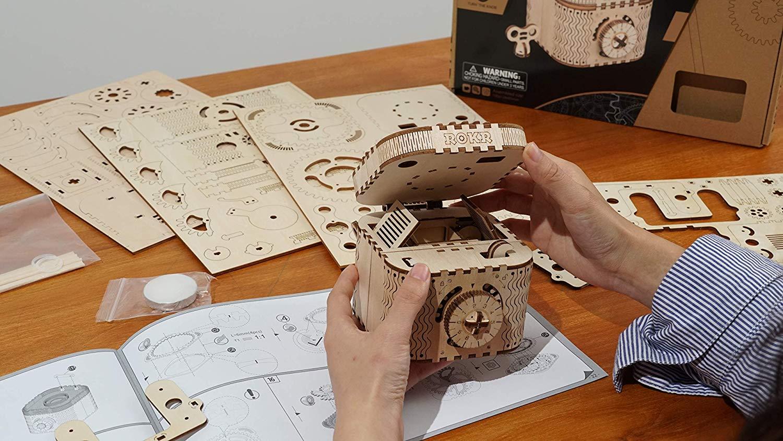 3D立体パズル DIY組立 ギア 宝箱 パーペチュアルカレンダー クラフト 子供 おもちゃ  知育玩具