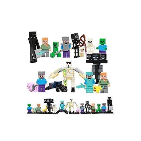 レゴ互換 マインクラフト風 ミニフィグ16体セット マイクラ風 お得 大人気 子供おもちゃ