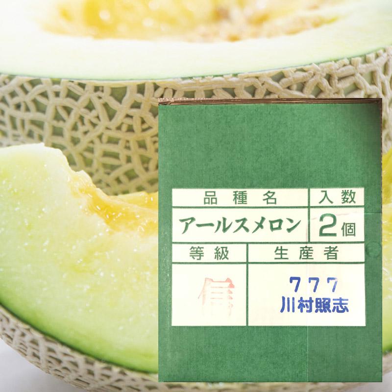 【送料無料】 アールスメロン 2個 等級 秀 マスクメロン [新潟市産]
