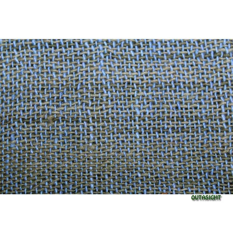 コットンスカーフ 手紡ぎ 手織 青色 タイ TNTS-37