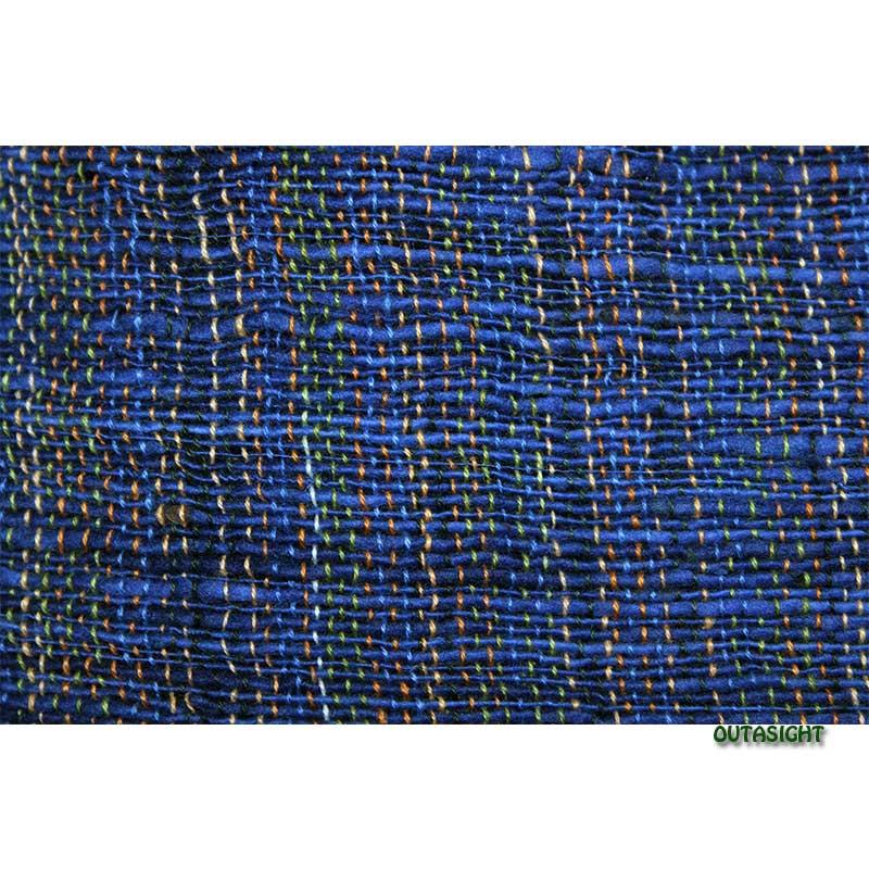 コットンスカーフ 手紡ぎ 手織 青縞模様 タイ TNTS-39