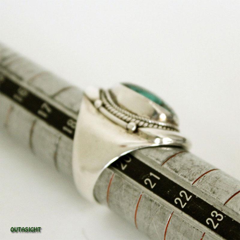 チベタンオールドターコイズ シルバーリング SRTN-04