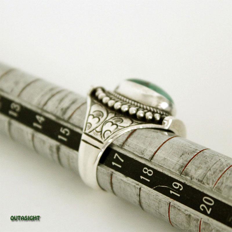 チベタンオールドターコイズ シルバーリング SRTN-06