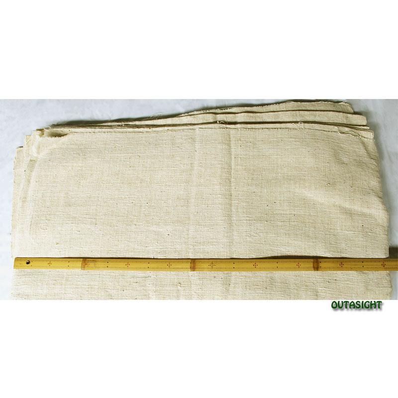 コットン(木綿)反物生地 手紡ぎ 手織 生成り色B タイ TMR-28
