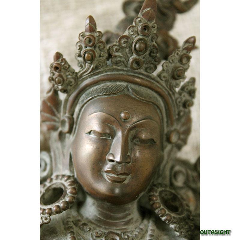 サラスヴァーティ 弁財天 銅無垢 ネパール NPMS-08