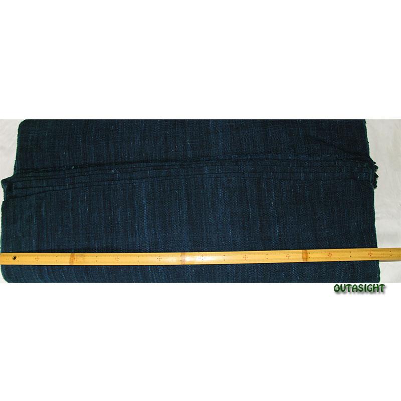 コットン(木綿)反物生地 手紡ぎ 手織 濃藍色 タイ TMR-32