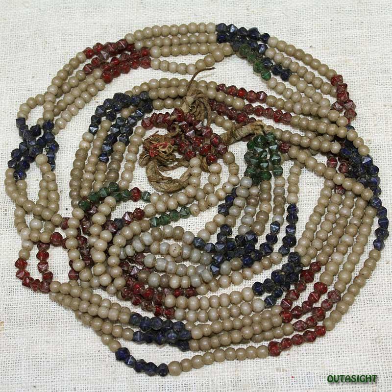 ビーズネックレス アンティーク タル族 ネパール 1001-D