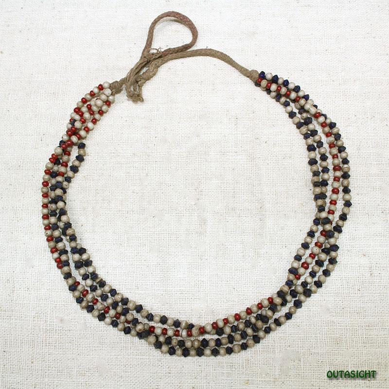 ビーズネックレス アンティーク タル族 ネパール THN-07