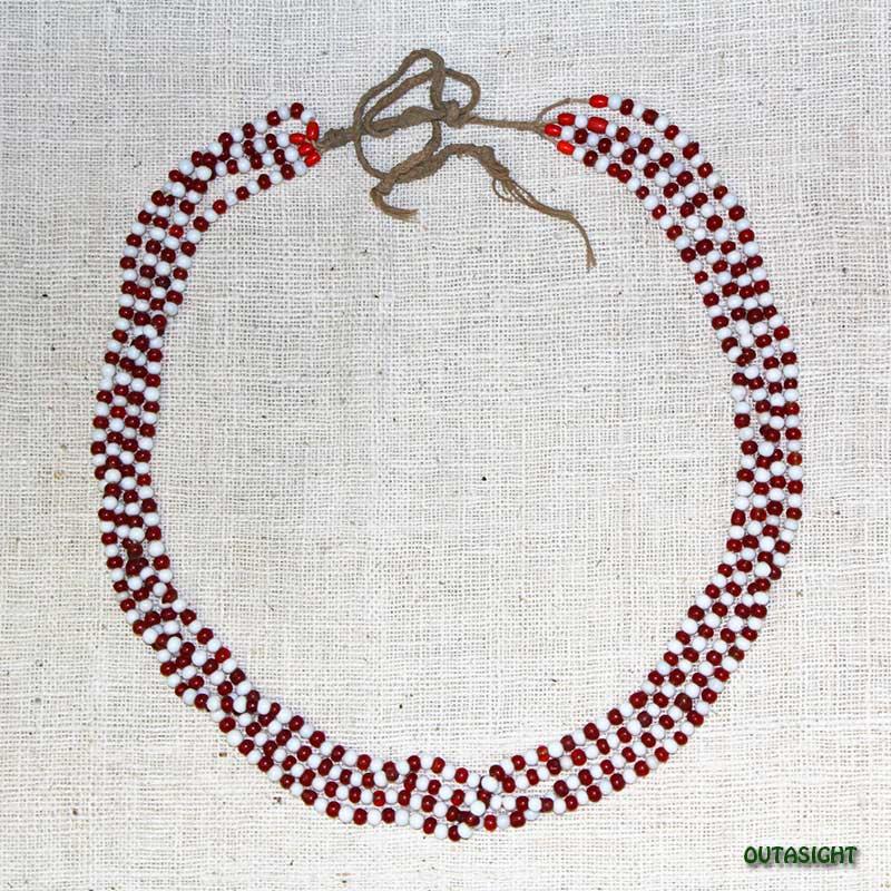 ビーズネックレス アンティーク タル族 ネパール THN-10