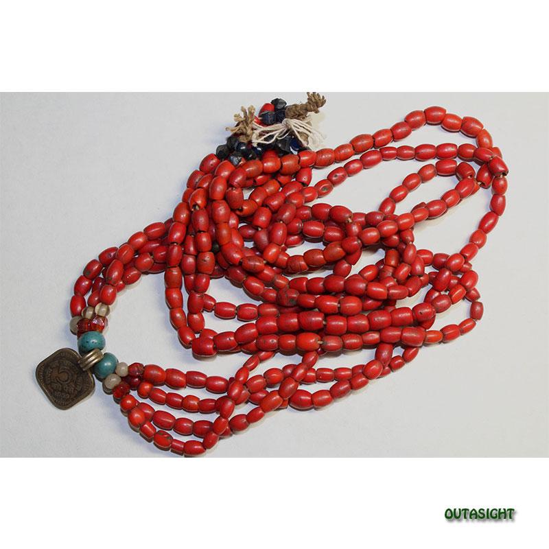 アンティークビーズ 4連 タマン族 ネパール 76010802-C