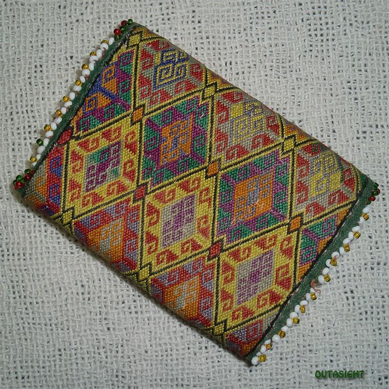 織物財布 三つ折りC オールド アフガニスタン